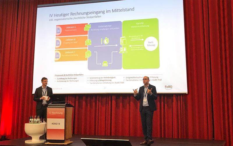 Vortrag von Herrn Stephan Greulich und Herrn Nils Britze zur E-Rechnung im Mittelstand